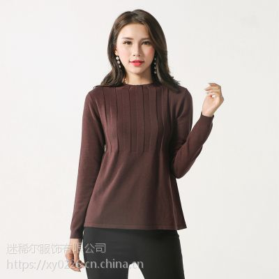 韩版女装秋季套头针织衫2018新款百搭宽松女式毛衣针织打底衫现货