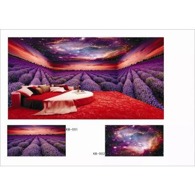 『无缝壁画厂家直销|酒店宾馆KTV乐园主题定制』广州壁画生产厂家