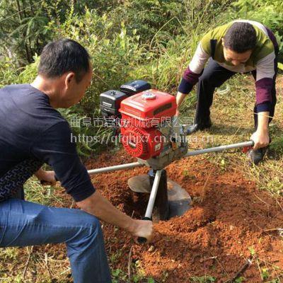 手推植树挖坑机 便携式施肥钻眼机 轻便植树打洞机价格