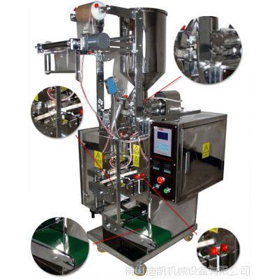 供应洗衣液小袋包装机械 DK-240柔软剂全自动包装机 小袋三边封液体包装机