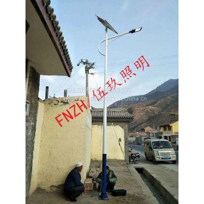FNZH/伍玖照明6米30瓦太阳能新农村精准扶贫太阳能路灯仿古路灯特价批发江西上饶厂家