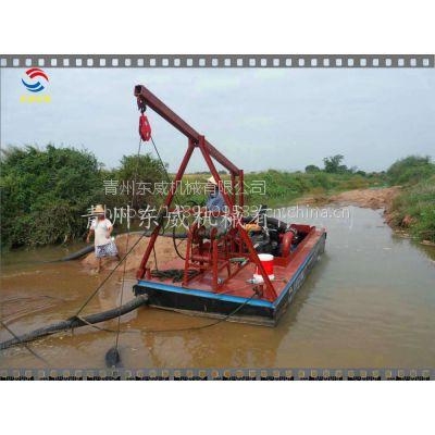 潮州低价位高品质岸边采沙设备(东威)小型抽沙船厂家15163648878
