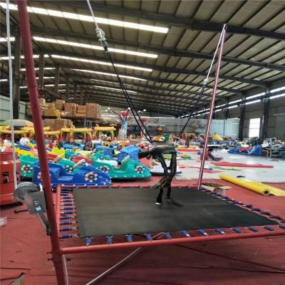 飞天蹦极儿童6人户外大型钢架弹簧电动蹦极跳床蹦蹦床游乐设备