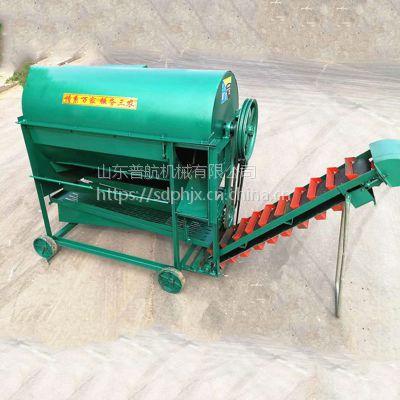 自动装袋花生摘果机 普航大型拖拉机牵引自动装袋花生摘果机 落生打果机报价