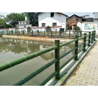 水泥仿木景观围栏 仿木树桩 桥梁护栏栏杆安全可靠