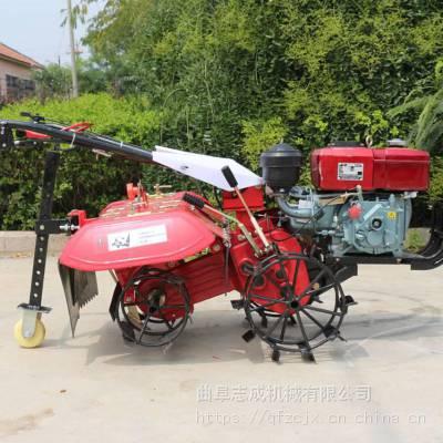 四冲程7.5马力小块地松土机 汽油四驱除草耕地机 手拉启动的微耕机