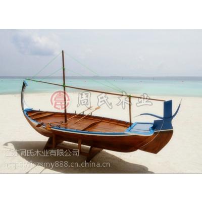 木船厂家特制沙滩道具摆设木船出售 特色木船定做订制