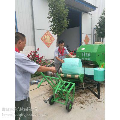 低价直供打捆包膜机 固定式苞米秸秆打捆裹膜机供销社