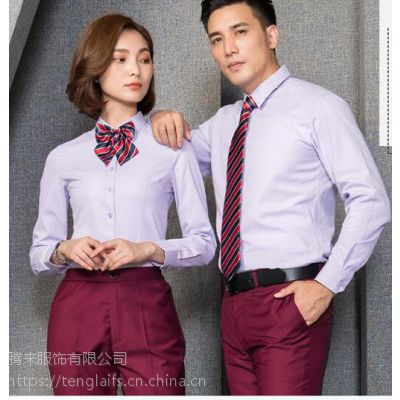 腾来服饰定做时尚衬衫企业员工衬衣,印字工装衬衣职业装定做,性比价高