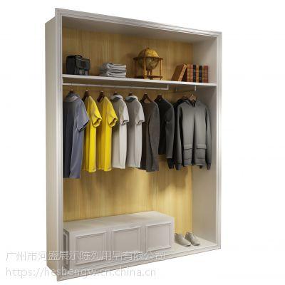 广州河盛服装展示柜出售,店铺木质货架定制出售