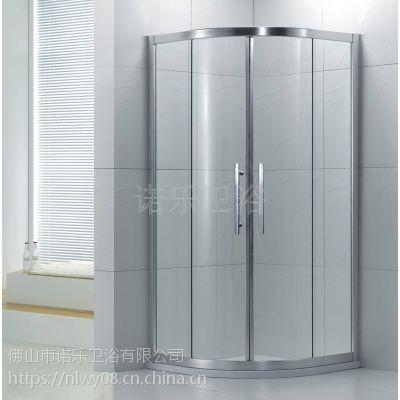 厂家定制 淋浴房弧扇形 简易钢化玻璃淋浴房 酒店工程淋浴房