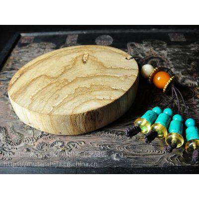 供应马来西亚沉香手把件 油线花片沉香片E32号配绿松石珠木雕工艺品