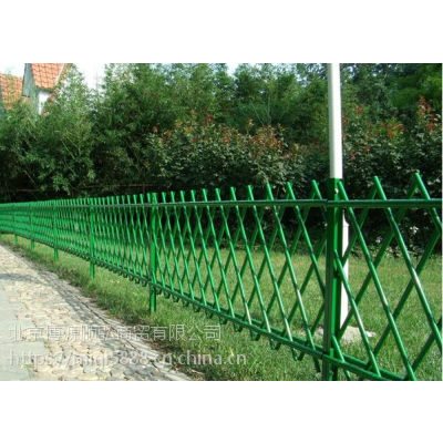 HCQ235山东喷塑仿竹节围栏,园林竹节管栅栏,烤漆围墙护栏可搭配不同的花