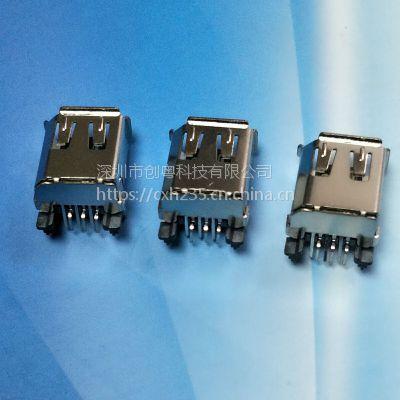 1394 6PF STM全贴片插头 IEEE连接器firewire火线接口连接器