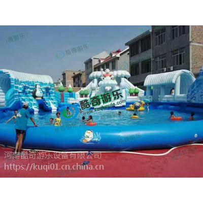 夏季儿童水上乐园 水上充气滑梯定做 充气水滑梯
