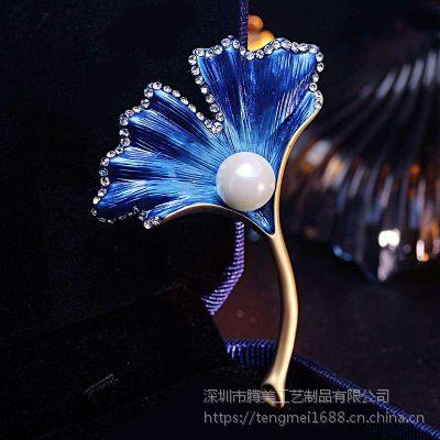 金属胸针 珍珠花朵形状胸花 别针 外贸热销系列款