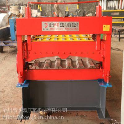 地鑫加工定做集装箱压瓦机 活动箱板房墙板瓦楞成型设备