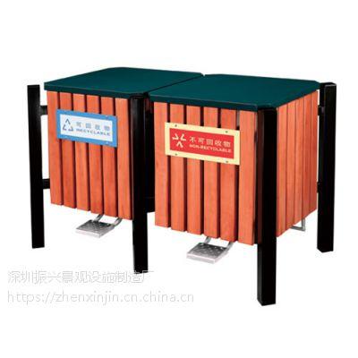 茂名钢木果皮箱|垃圾箱|城市垃圾桶