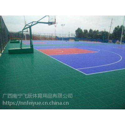 崇左市悬浮式篮球场,拼装而成的运动地板飞跃体育