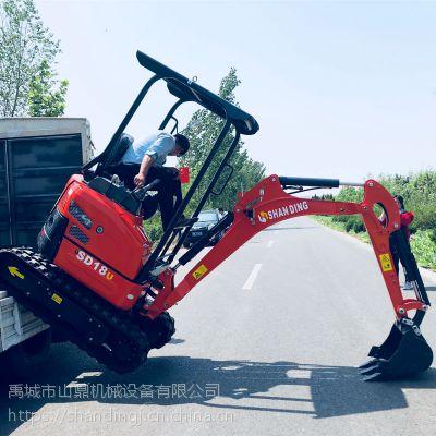 上海山鼎豪华版小型挖掘机报价