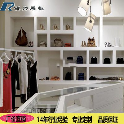 快时尚潮流女鞋展柜 男女鞋皮鞋展柜 商场专卖店皮具箱包木质展示柜