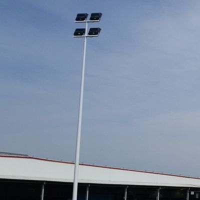 澄迈县灯杆 8米锥形体育场灯杆 2017预埋式