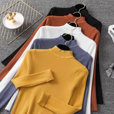 秋冬新款韩版女装针织衫毛衣 阿里巴巴服装女式毛衣打底衫批发