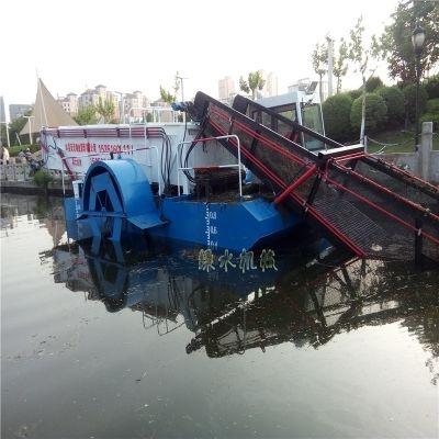 水库水葫芦清漂船,河流水面漂浮物打捞设备,水浮莲清理机械