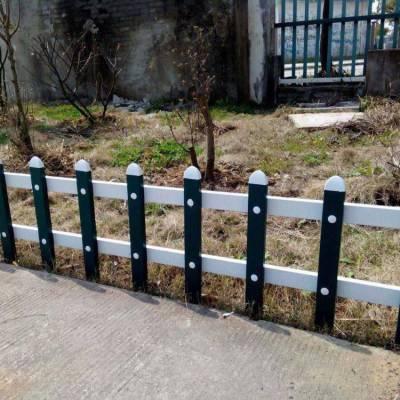 浙江湖州安吉变电箱护栏、 围墙护栏报价单 木纹色草坪护栏