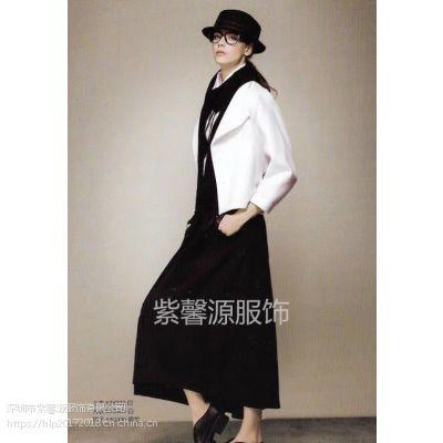 品牌折扣女装 高端品牌希色 卉 羊毛纯色简约女装折扣尾货 一手货源专柜货源供应
