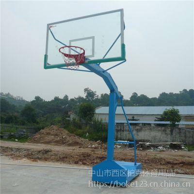 学校标准篮球架高度3.05米 中山埋地圆管篮球架可送货安装