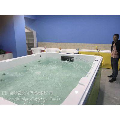 新款七彩双面透明冲浪/泡泡池-金妙奇婴儿游泳设备