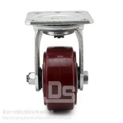 万向轮批发 高耐磨重载pu轮子 多尺寸 小工业轮 缓冲带刹车