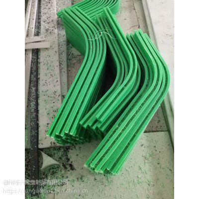 烁兴橡塑加工高分子聚乙烯塑料条 耐磨条耐磨链条导轨 滑轨托轨