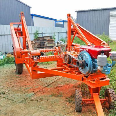 电缆拖车 3-5-8-10吨手摇电缆多功能收放线车厂家 电力施工工具车 洪鑫牌