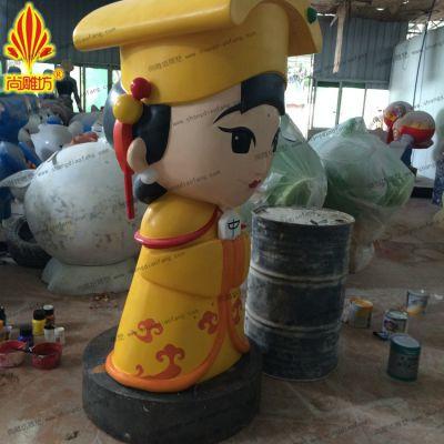 广州尚雕坊专业形象设计 美女造型玻璃钢人物摆件雕塑 卡通造型简约现代摆件定制