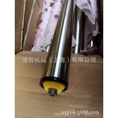 镀锌无动力滚筒流水线 托辊黄色端盖输送带滚筒 码垛机皮带机
