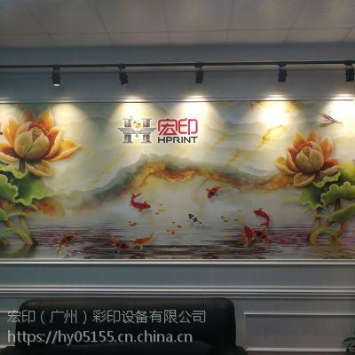 广州宏印2513竹木纤维板平板打印机铝塑板uv打印机石塑板彩印机