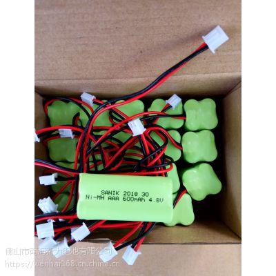 供应SANIK电池、集中器电池NI-MH AAA 600MAH 4.8V镍氢电池、镍镉电池、聚合物