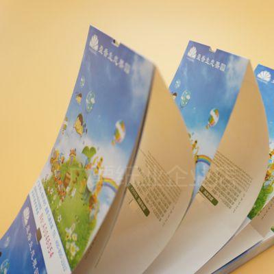 单张折叠式铜版纸门票厂家印刷生态果园门票入场券打码设计