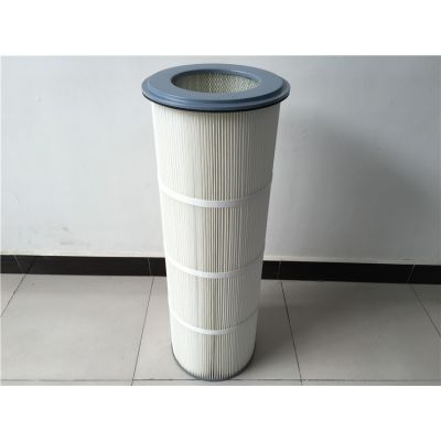 厂家专业生产抛丸机喷砂机除尘滤筒 聚酯纤维覆膜滤筒