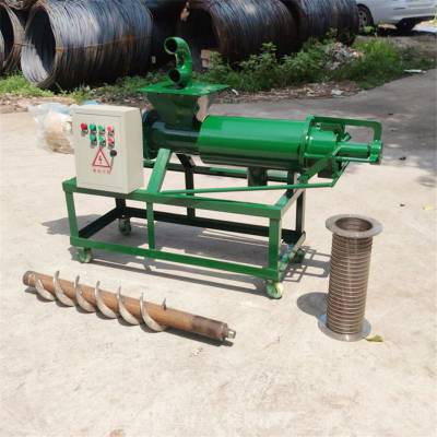 粪便渣液分离机 304不锈钢鸡粪分离机 干湿纸浆脱水机