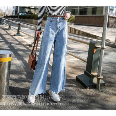 牛仔裤女款2018新款牛仔裤杂款尾货大量库存大量新款式现在做服装还好做吗东莞库存尾货