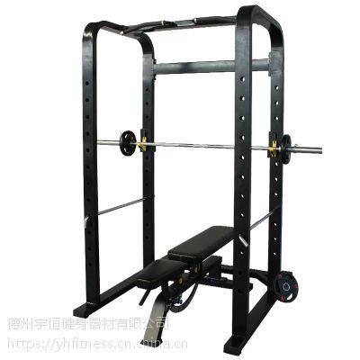框式深蹲架商用龙门架卧推架举重床杠铃架多功能专业健身器材家用