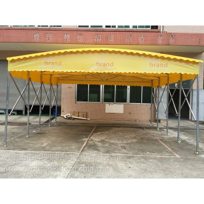 宁波海曙区活动雨棚布图片 可移动雨篷 楼顶遮阳蓬