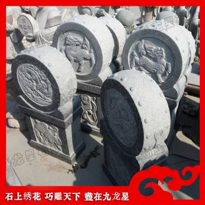 惠安石雕厂家供应青石抱鼓石 寺庙石鼓 花岗岩石鼓