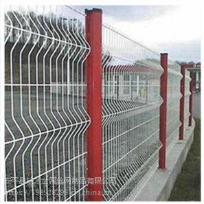 瑞才多色调搭配桃形柱厂区护栏网(0.8-2.0米)批发
