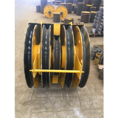 澳尔新3.2吨半封闭吊钩组 铸钢滑轮本地钩头吊钩组 起重行车钩