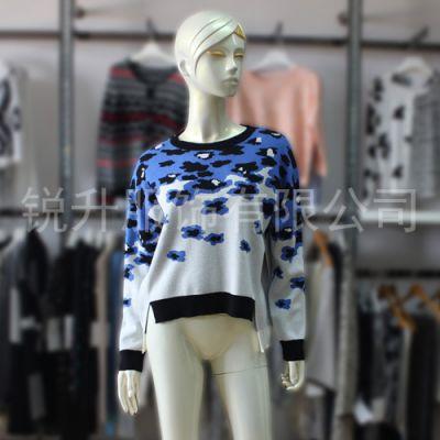 秋冬韩式休闲长袖套头针织衫 前后不对称设计打底毛衣女