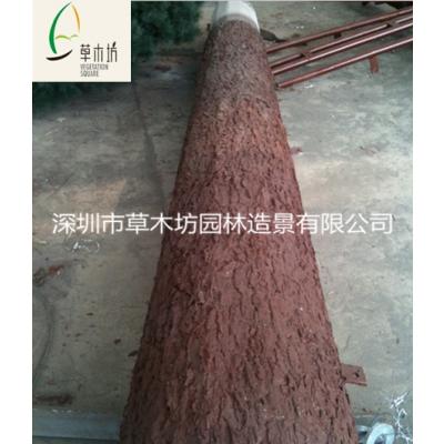 厂家直销草木坊牌仿真树皮 松树皮制作仿真树 装饰墙面包管道装饰精品尺寸2*4米